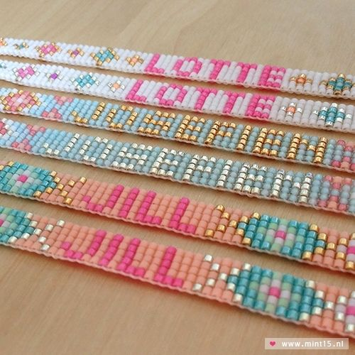 Naamarmbandje 'Lotte' - Mint15