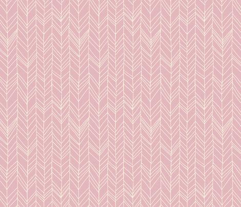 featherland (dusty pink) fabric by leanne on Spoonflower - custom fabric floor cushions......