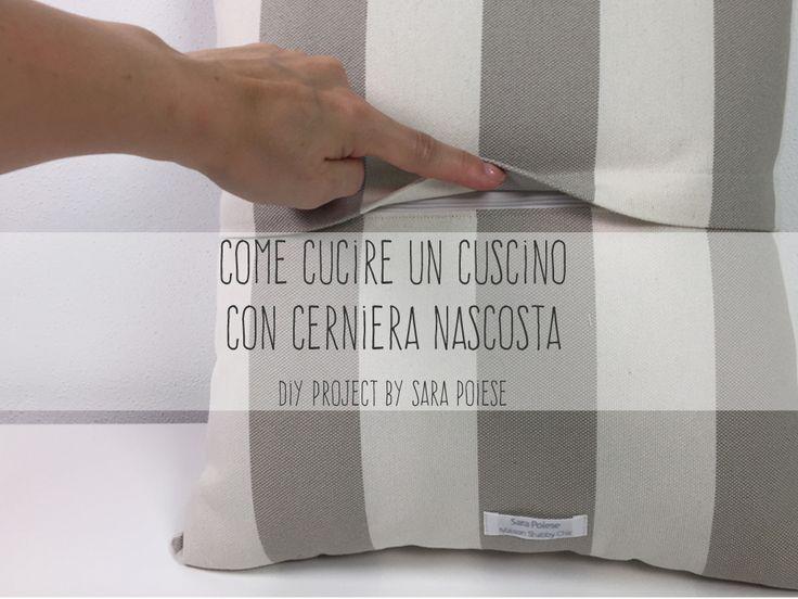 In sartoria con Sara Poiese: la fashion blogger nel tutorial passo passo insegna a cucire un cuscino con cerniera nascosta sul retro.