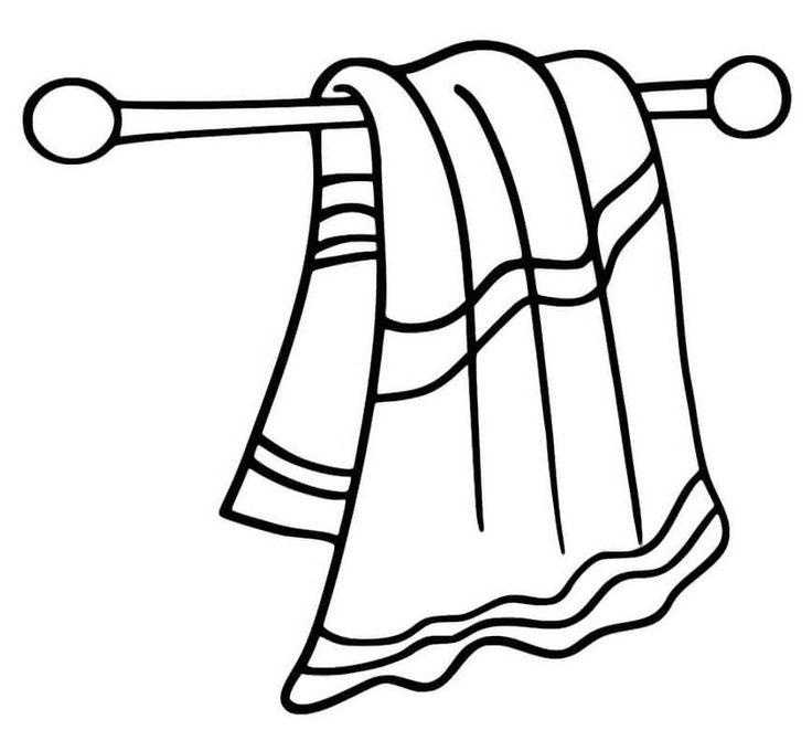 Раскраска полотенца для детского сада