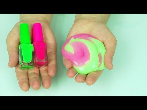 Slime -  Mikro Su Bazlı Yapıştırıcı ve Renkli Ojeler Kullandık