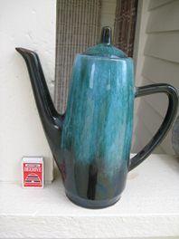 Blue mountain pottery coffee pot