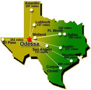 Where Is Odessa Texas On The Map