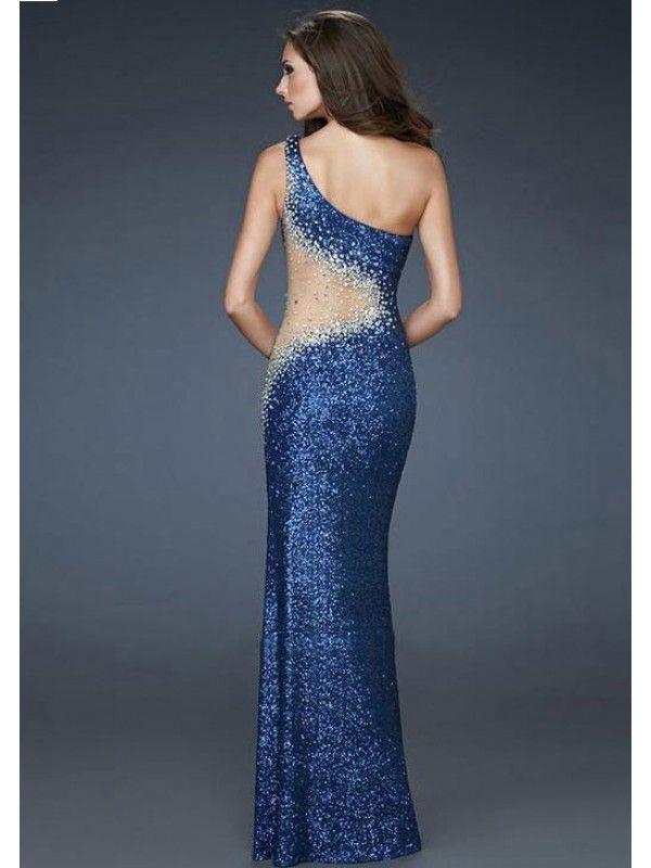 quite nice 17ab9 e9221 Mermaid Monospalla Sequin Lace Floor-length Raso Elastico ...