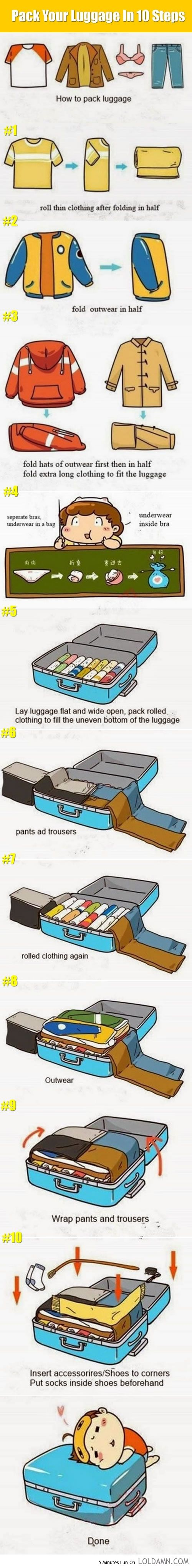 Preparing A Long Trip? Pack Your Luggage Like A Master.