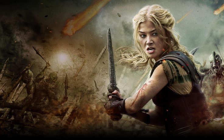 Andromeda played by Rosamund Pike. Wrath of the Titans