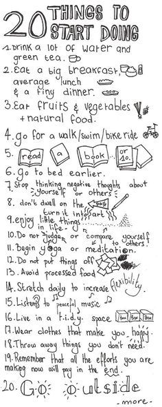 20 things to start doing to make your day 100x better.