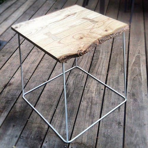 minimalistic beautiful wooden side table