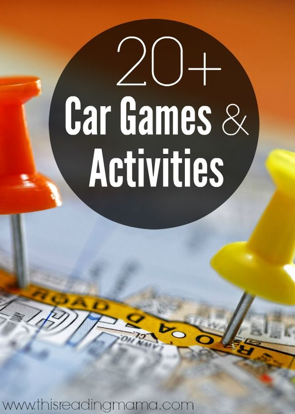20+ Car Games and Activities {For Long Car Trips} with lots of FREE printable games {literacy and math} for Preschool - Elementary Kids | This Reading Mama