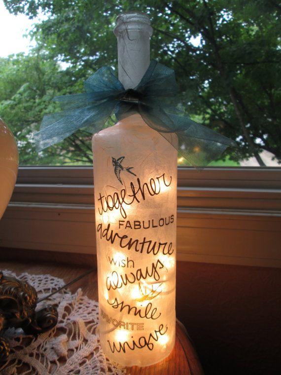 Inspirational decor wine bottles wine bottle lamp by songbird58