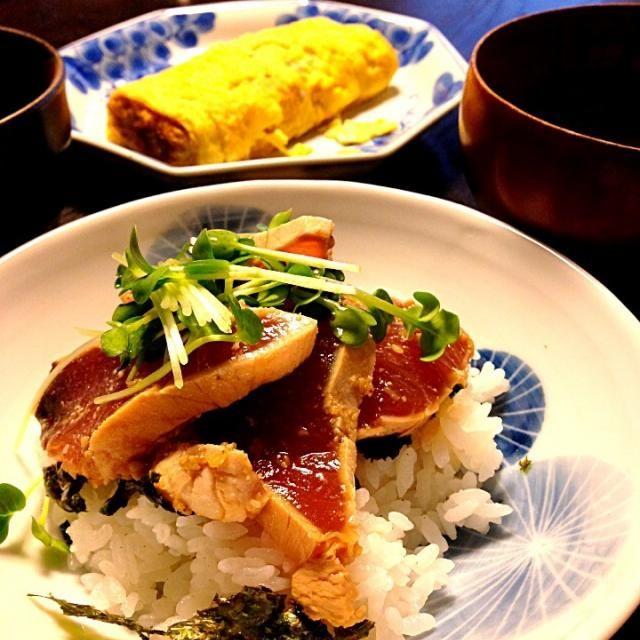 テレビでやってたの美味しそうだから挑戦してみたよ(^o^) - 40件のもぐもぐ - 糸満産マグロの漬け丼 by 星