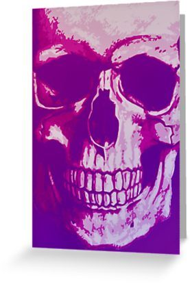 20% OFF Everything! Use code: 20FORALL. Sold! Purple Skull Greeting Card & Postcard by Scar Design. Many Thanks to the buyer from Canada!!  #skull #purple #greetingcard #card #postcard #gothic #awesome #cool #sale #sales #save #deals #discount #redbubble #gifts  • Also buy this artwork on stationery, apparel, stickers, and more.