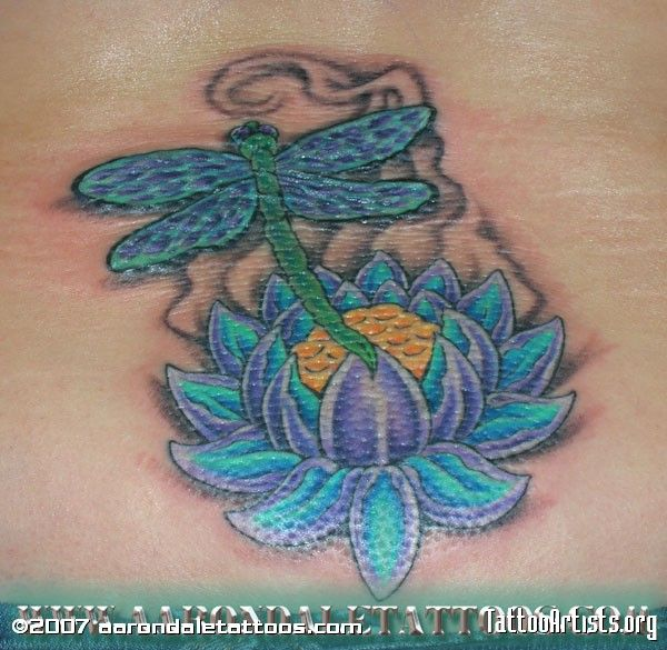 Lotus Flower Tattoo With Dragonfly: 34 Best Flower And Dragonfly Tattoo Images On Pinterest