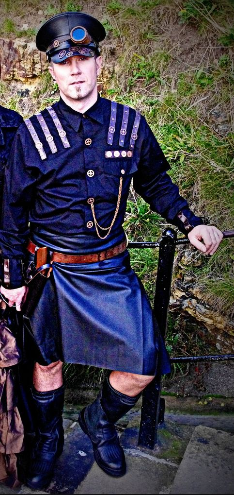 February 23rd - Kilts, Tartan and Steampunk theme www.club-rub.com/ Leather kilt. Well Cool :-)