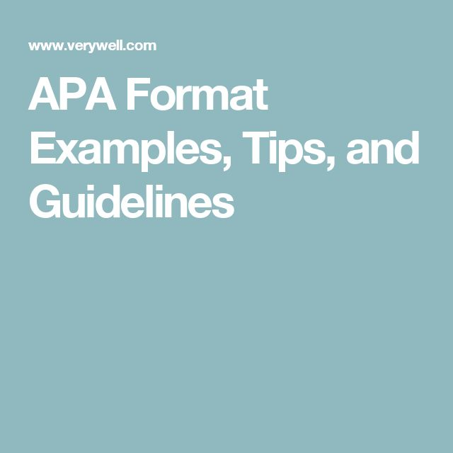 apa essay standards