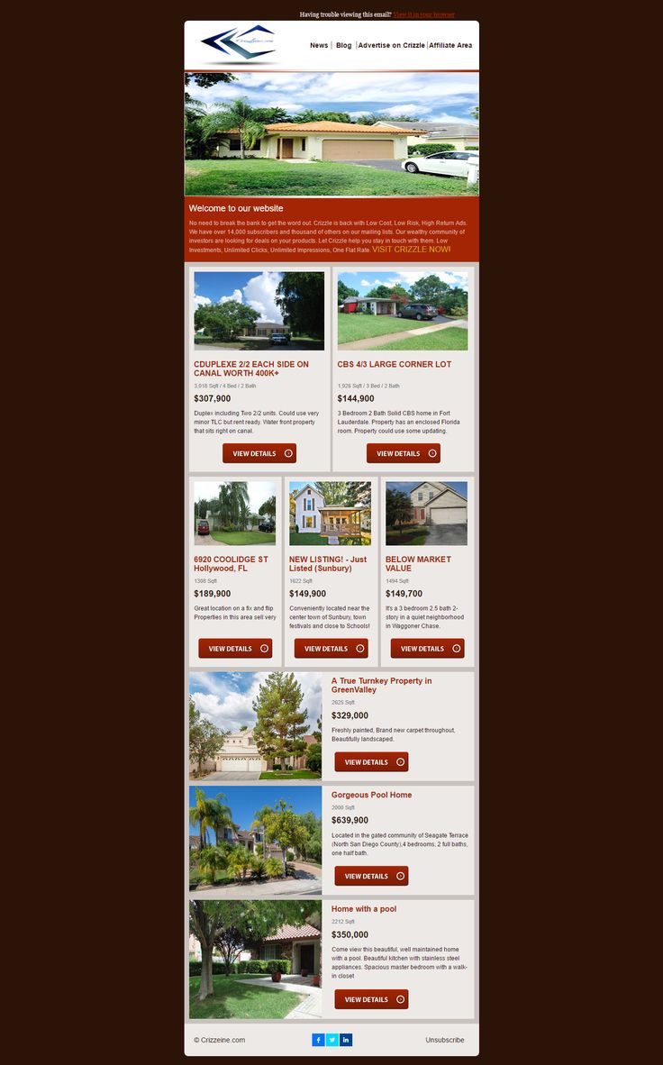 mailchimp real estate templates