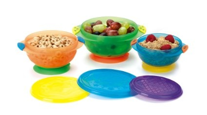 Munchkin Three Stay Put 3-Pack Suction Bowl on Amazon On Sale today for $8.49 & eligible for FREE Super Saver Shipping. find more items like this at www.ddsgiftshop.com/baby like us on facebook here www.facebook.com/pages/Amazon-Deals-for-Baby-and-Kids/133650136817807