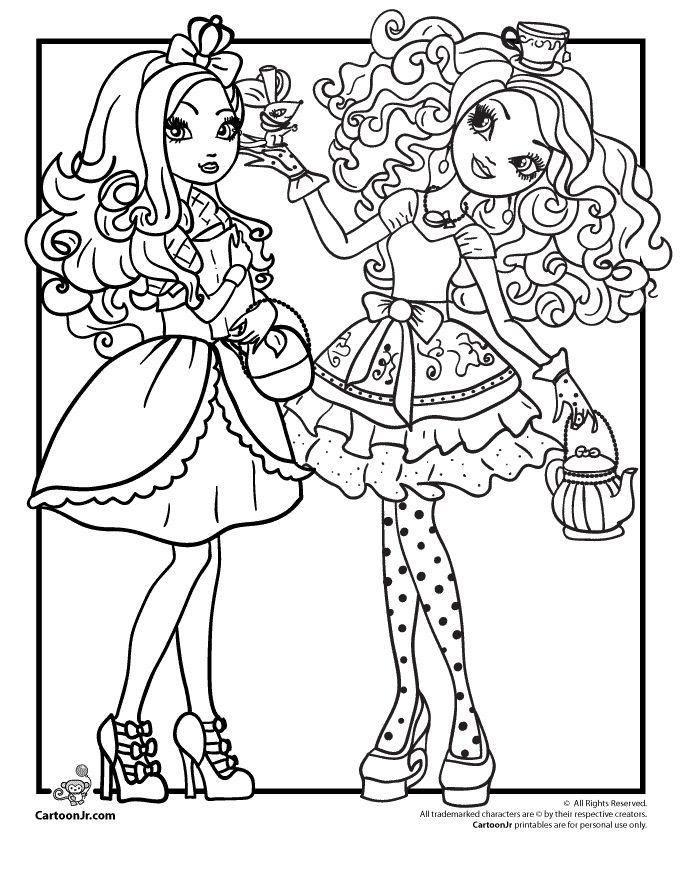 Ever After High - Apple White & Madeline Hatter   Cartoon Jr.