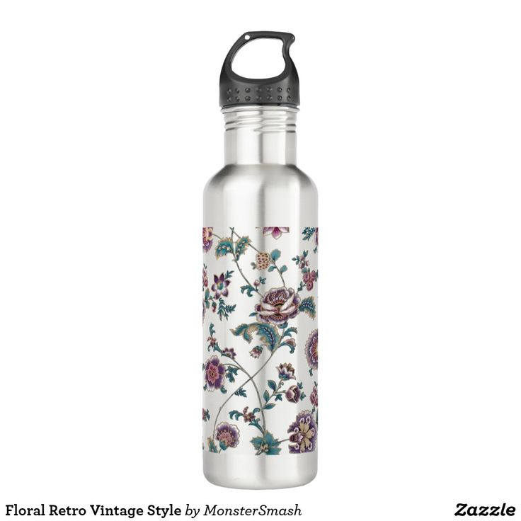 Floral Retro Vintage Style 710 Ml Water Bottle
