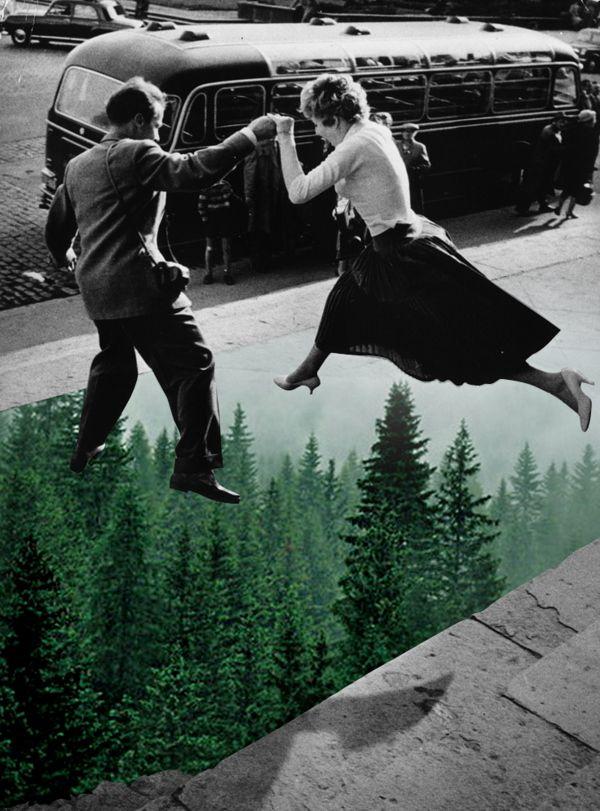 Natural Act collages by Merve Ozaslan