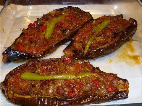 Fırında Karnıyarık Tarifi (kızartmadan) | Sebze Yemekleri - Aynurun yemek ve pasta tarifleri - YouTube