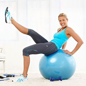 Jackie Warner at home circuit workoutCircuit Training, Jackie Warner, Fit Tips, Strength Training, Bath Suits, Ball Workout, At Home Workout, Circuit Workout, Home Improvements
