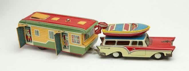 Vintage   Car  ,boat and camper toy