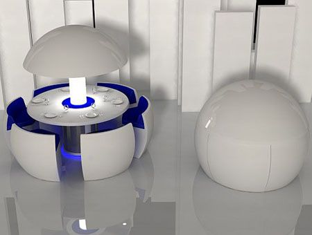 """""""Kure"""", A Unique Dining Table Concept To Save Some Space by Fatih Can Sarioz"""