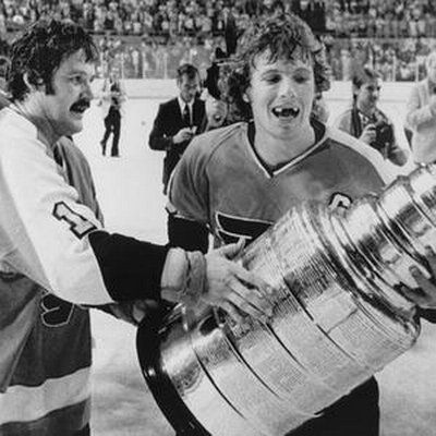 Bobby Clarke with the Stanley Cup