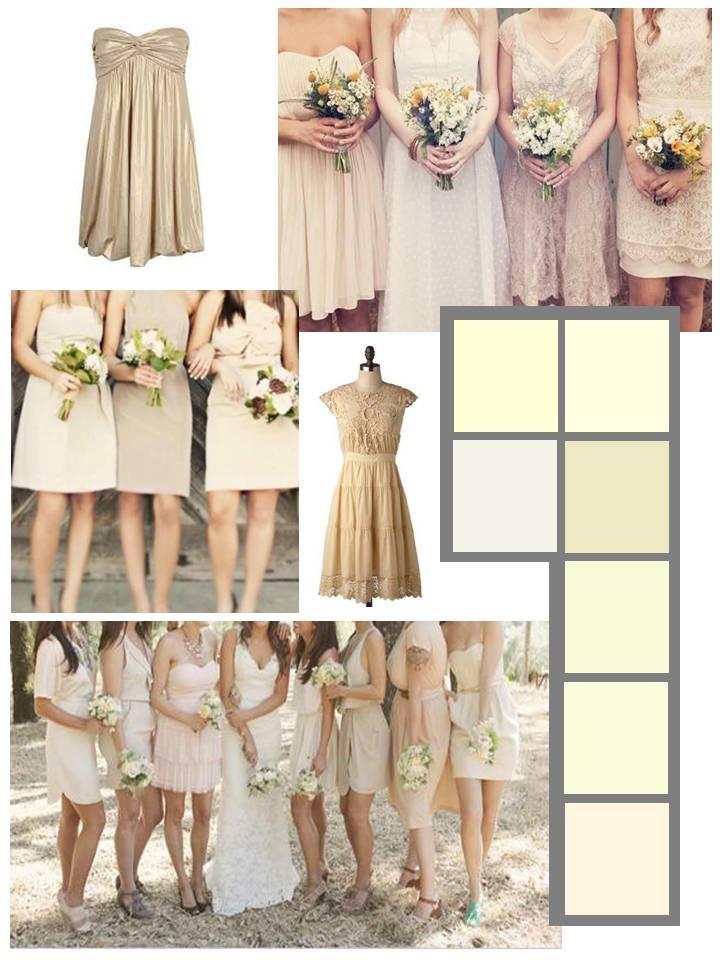 Cream Bridesmaid Dresses Love The Idea Of Similar But Diffe Color Wedding Bridesmaids In 2018 Pinterest