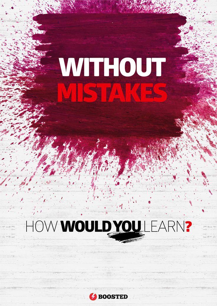 Motivační plakát Bez chyb (Anglicky)