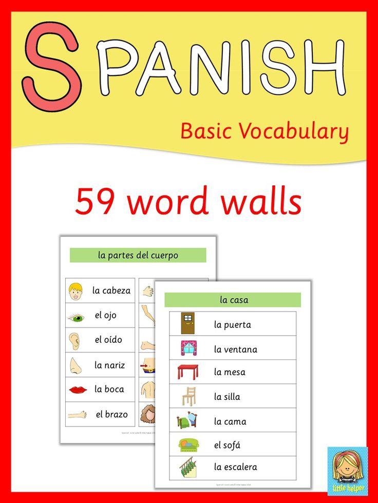 Spanisch word walls
