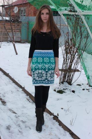 Жаккардовые юбки для дочери. Кауни / Вязание спицами / Вязание спицами. Работы пользователей