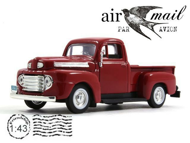 Ford F 1 Red Pickup Truck 1948 Year Yat Ming 1 43 Scale Diecast