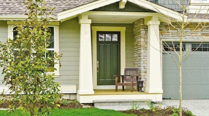 Best 25 green exterior paints ideas on pinterest house colors exterior green exterior house - Exterior door paint colours model ...