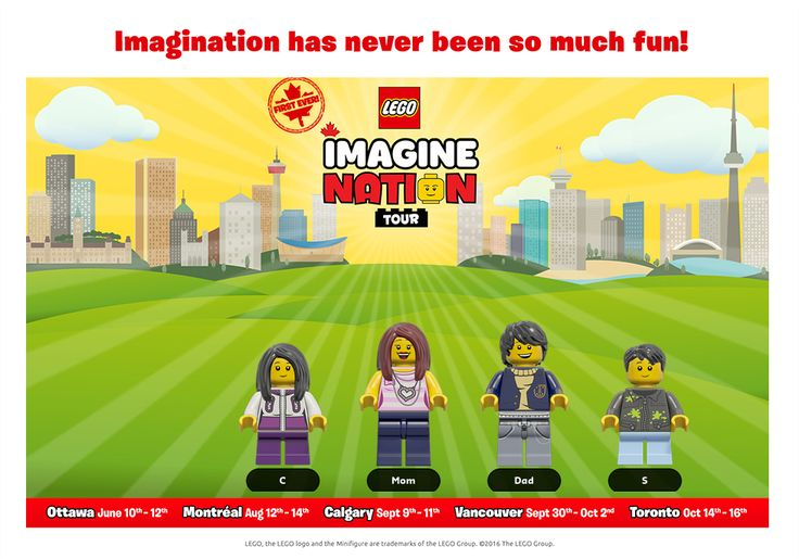 The LEGO Imagine Nation Tour is going across Canada now! Check out where it's…
