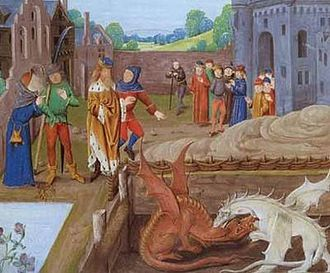Vortigern - King of Britons  - Germanic barbarians used as auxiliaries by Roman's in Britain - He was  pushed back into the west by the Saxon Invaders.