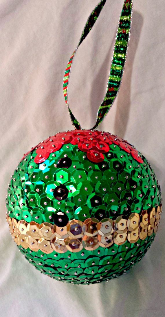 Elf Ornament Sequin Christmas Ornament 4 by stormsleadtorainbows