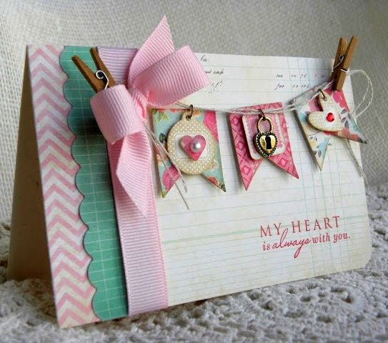 Beautiful card! Love the bunting....  #cardmaking #scrapbooking #paper