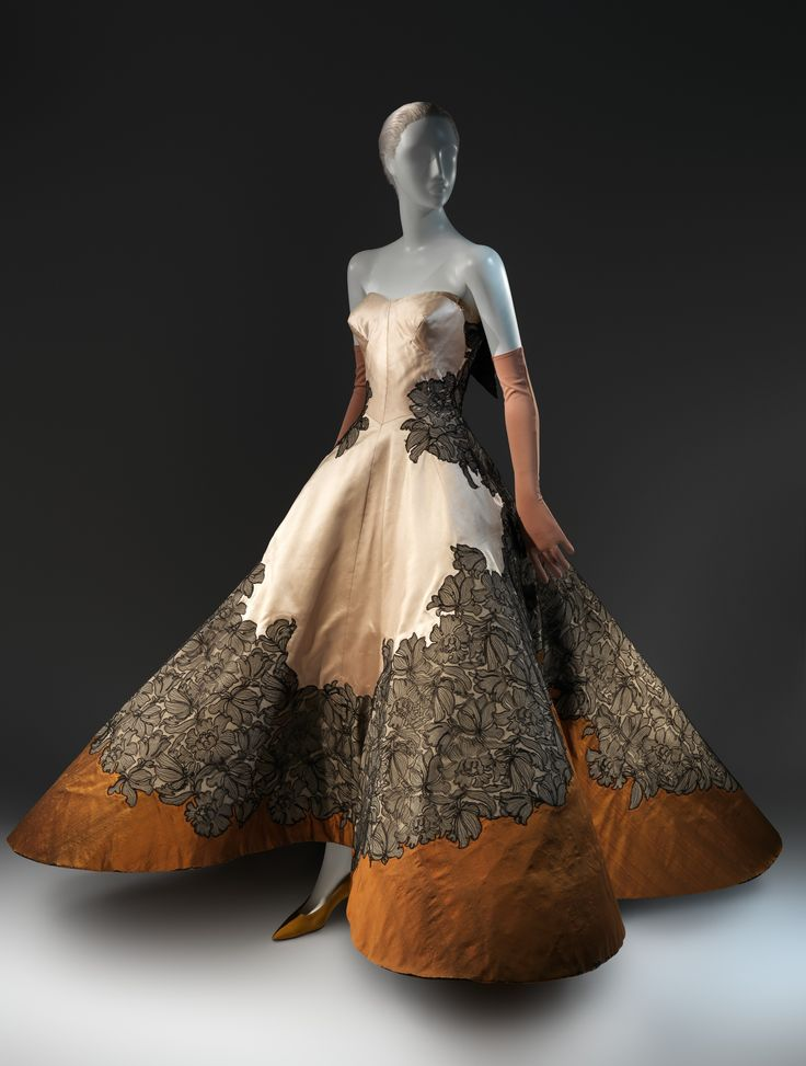 "Charles James (American, born Great Britain, 1906–1978). ""Four Leaf Clover"" Evening Dress, 1953. The Metropolitan Museum of Art, New York. Brooklyn Museum Costume Collection at The Metropolitan Museum of Art, Gift of the Brooklyn Museum, 2009; Gift of Josephine Abercrombie, 1953 (2009.300.784) #CharlesJames"