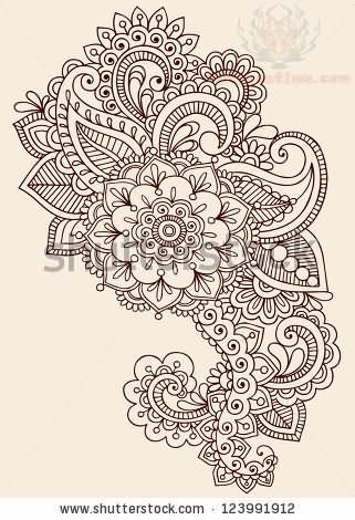paisley tattoo | Paisley Pattern Henna Mehndi Tattoo Design