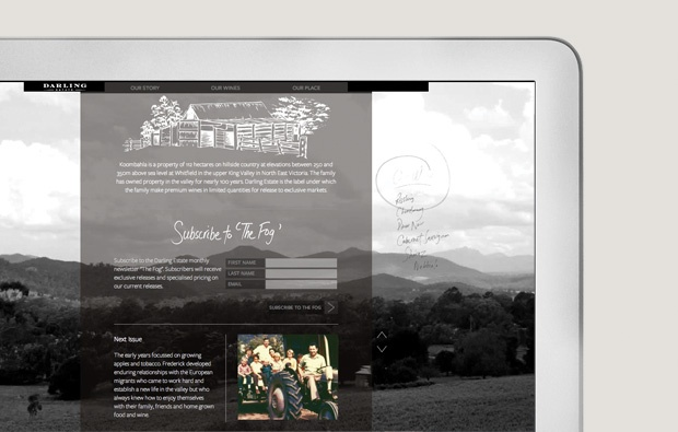 Darling Estate Winery Website and Branding Design by Ennis & Perry Creative - www.ennisperry.com