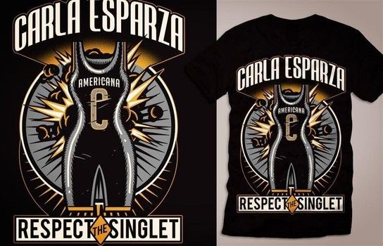 Invicta FC strawweight champ Carla Esparza unveils signature Americana MMA shirt