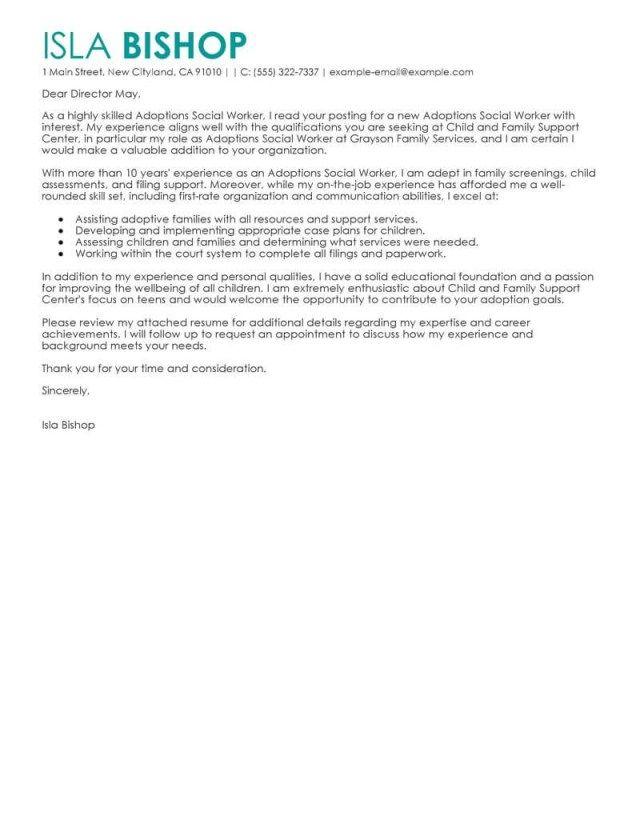 23 Social Work Cover Letter For Job Ideas On