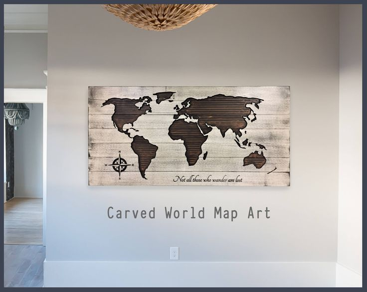 World Map Home Wall Decor, Wooden Map, World Map Wall Art, Wood Wall Art, Push Pin Map, Rustic, Vintage, Travel, Not All Those Who Wander by HowdyOwl on Etsy