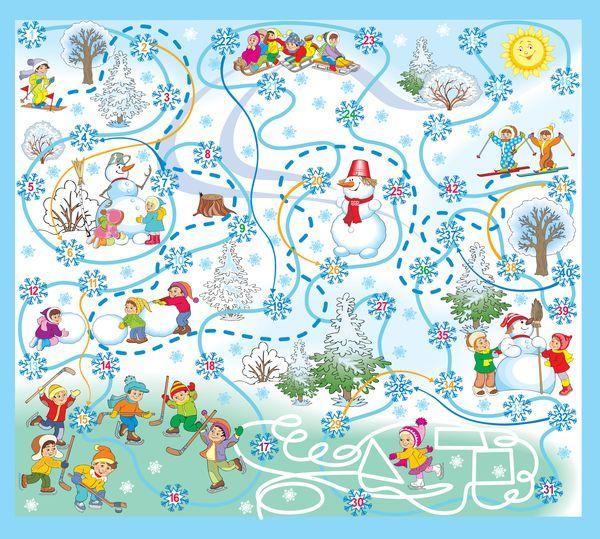 Настольная игра для детей Зимушка - Зима