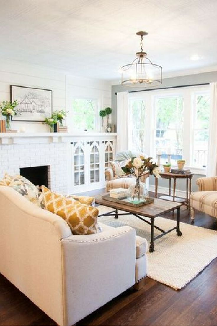 Fixer Upper The Brick House Couch PlacementLiving Room