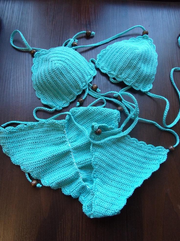 Hand crochet bikini