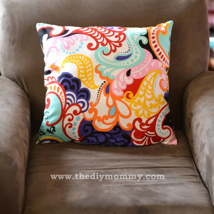 Sew Throw Pillows the Easy Way by The DIY Mommy THIS OPTION MIGHT BE EVEN EASIER!