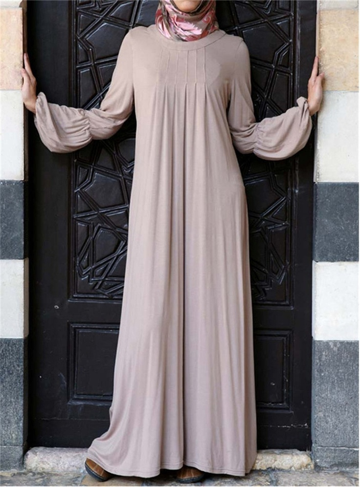 I have this in deep maroon! love it so much :) Jersey Pleated Abaya - SHUKR International